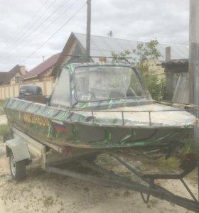Лодка Крым с мотором Yamaha 25 4 тактная