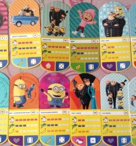 Карточки миньоны. 1 карточка 12 рублей.30 карт 180