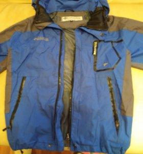 Куртка подростковая осень Columbia 3в 1 ( 152-158)