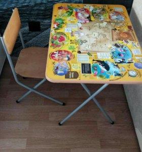 Складной столик и стульчик для ребенка