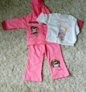Костюм (брюки, кофта, футболка с длинным рукавом)