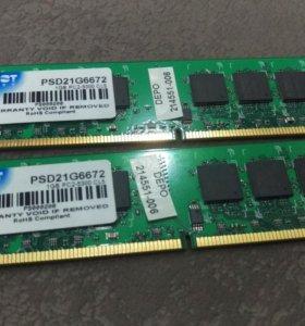 ОЗУ DDR 2x1Gb