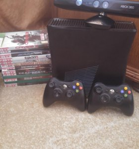 Xbox 360Lt+3.0 500GB + 2 геймпада + kinect+11 игр