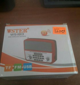 Радио, USB, flash card WSTER ws-1813