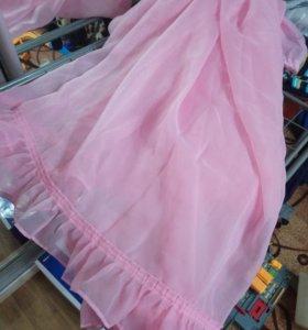 Тюль розовая плюс наволочка в подарок