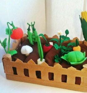 """Грядка из фетра . Набор игрушек """"Огород"""""""