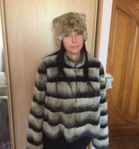 Полушубок-куртка из натурального меха(рекс)