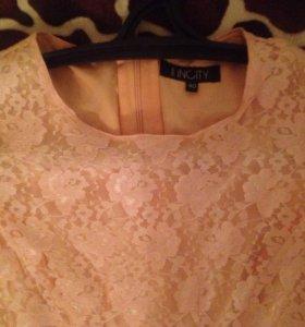 Платье инсити нежно-розового цвета