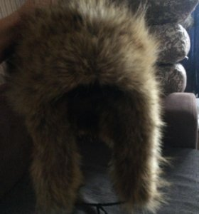 Натуральная шапка волчья мужская
