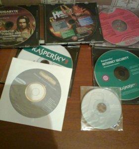 Установ. диски Касперский+др+5 чистых