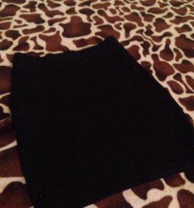 Чёрная мини-юбка/повседневное платье