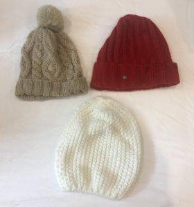 Зимние шапки и шарф женские