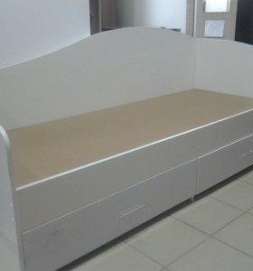 Продам кровать 1 спал с ящиками с задней планкой