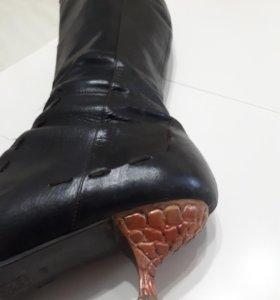 Демисезонные кожаные сапоги Paolo Conte