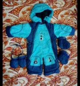 Зимний костюм-трансформер для мальчика