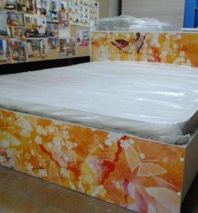Продам 2х спальную.кровать с ящиками