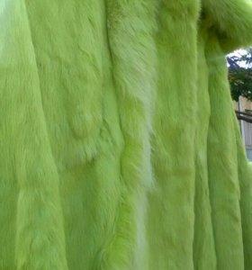 Куртка новая,натуральный мех( кролик)