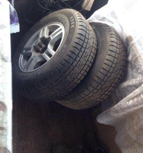 Колеса литые на УАЗ-ниву всборе комплект из 4колес