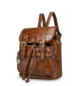 Рюкзак новый кожаный!