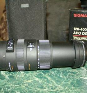 Объекиив Sigma Canon AF 120-400 mm