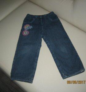 джинсы на флисе на рост 98 см