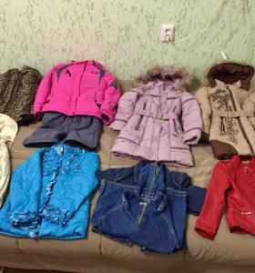 Верхняя одежда для девочек от 5 до 12 лет