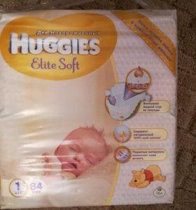 Подгузники Huggies Elite Soft 1 (до 5кг) 84 шт для