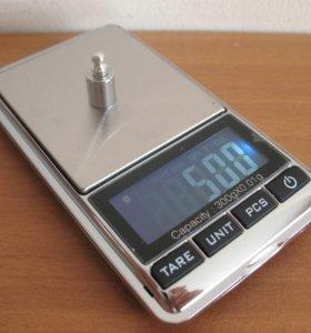 Электроные точные весы 0.01 х 300 гр. Хром