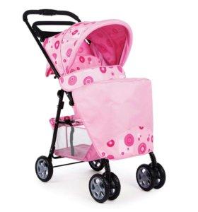 Детская прогулочная коляска для девочки(розовая)