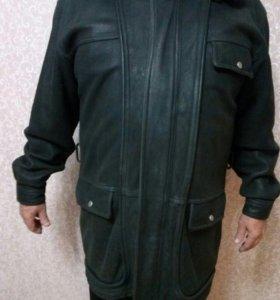 Зимняя коженая куртка