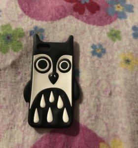 Чехол сова для iPhone 5-5S