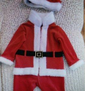 Дет.костюм Деда Мороза р.86 (12-18м)