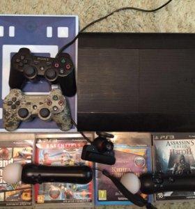 PS3 в хорошем состояние полный комплект 500 г