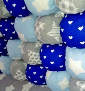 Бортики Бонбон в детскую кроватку