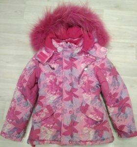 Детский зимний костюм с натуральным мехом