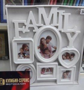 Рамка Family на 6 фото