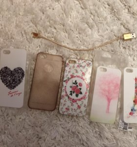 Чехлы и зарядка на iPhone 5 s