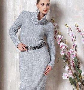 Вязаное платье, новое (с биркой), разм. 52-54