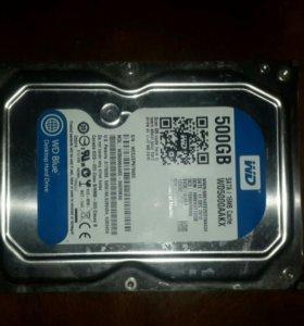 Жесткий диск wd blue 500gb (wd5000aakx)