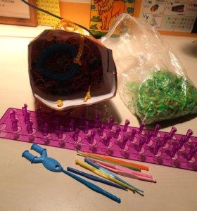 Резинки, станки, крючки для плетения