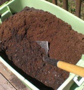 Плодородная органическая земля с торфом и песком