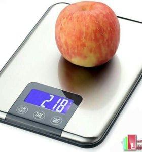 Весы электронные, ультратонкие, кухонные до 10 кг.