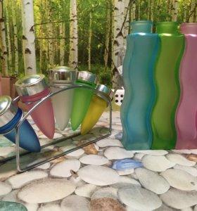 Вазочки Икеа, стекло, комплект из 3-х штук