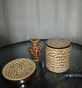 Новый набор для ванной банка мыльница керамика