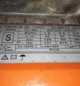 Сварочный аппарат helper prof euro ark 185