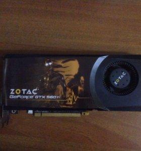 Видеокарта Zotac GTX 560ti 1024mb