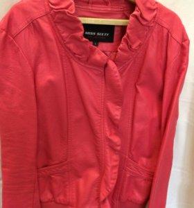 Куртка кожаная жёнская