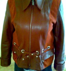 Курка-пиджак из натуральной кожи 52-54