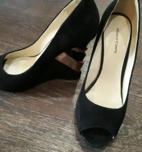 Туфли 38р кожа замша