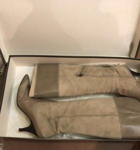 Замшевые сапоги 38 размер